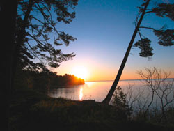 Sunrise over Chequamegon Bay