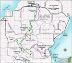 Apostle Islands Sled Dog Race Map