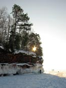 Sun and Bayfield Lake Superior ice caves