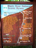 Black River Harbor National Scenic Byway Waterfalls