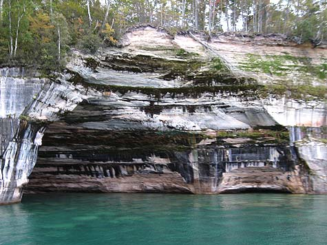 Rainbow Cave Pictured Rocks National Park