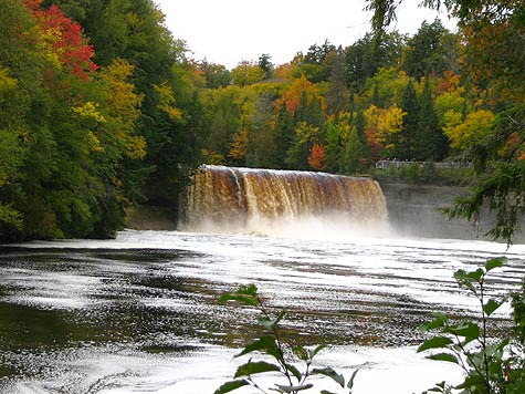 Upper Tahquamenon Falls And Fall Foliage