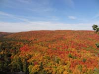 Fall colors from the top of Moose Mountain