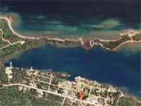 copper harbor aerial view