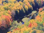 fall color in the porcupine mountains