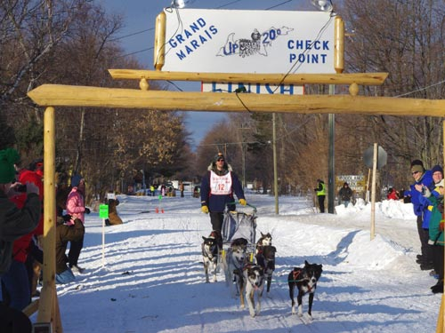 Ryan Anderson, winner of the UP200 2012 Sled Dog Race