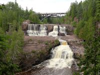 gooseberry falls minnesota waterfalls