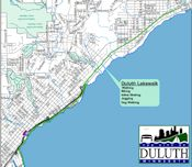 duluth lakewalk map