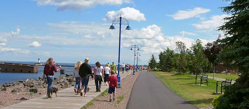duluth lakewalk boardwalk