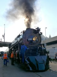 261 Steam Locomotive in Duluth Station