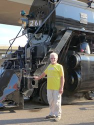 Ross with 261 Steam Locomotive