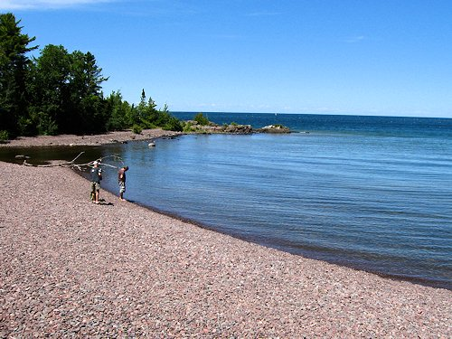 Copper Harbor Beach