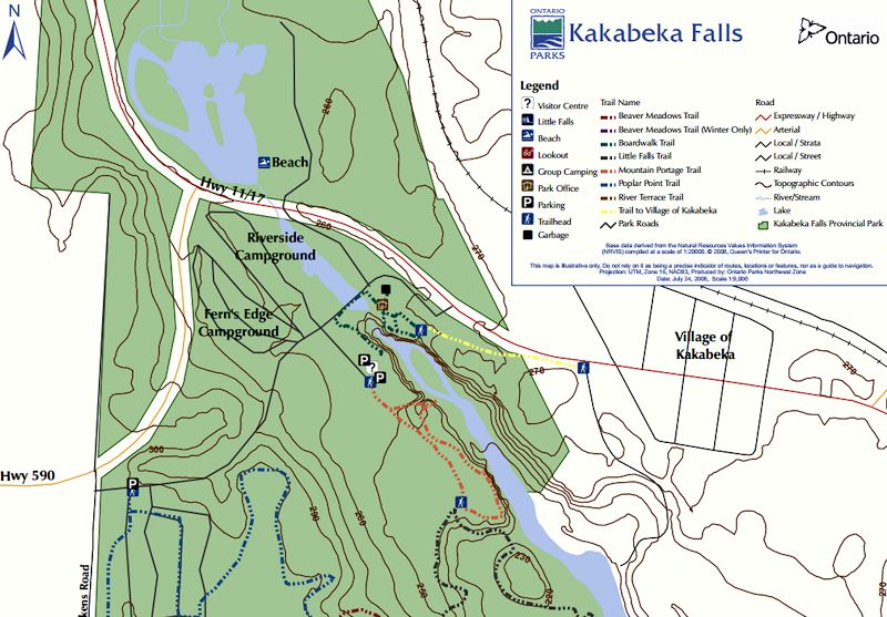 Kakabeka Falls Provincial Park Ontario