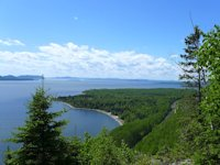 Wayside View of Lake from Trans-Canada Highway 11-17 West of Rossport
