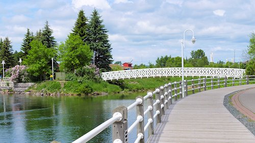 Riverfront Boardwalk Sault Sainte Marie, Ontario