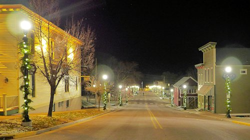 Bayfield decorated for Christmas