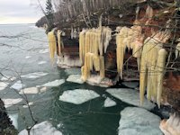 sea caves ice sculptures
