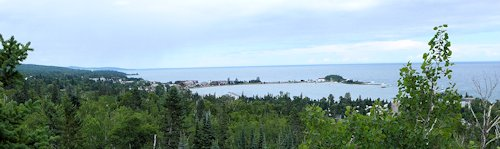 view from the top of Sweetheart's Bluff, Grand Marais