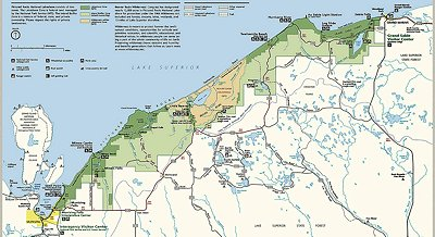pictured rocks national park map