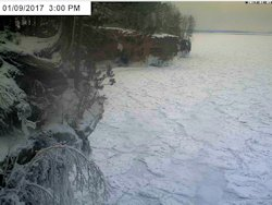 web cam bayfield ice caves