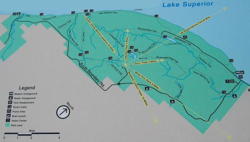 Porcupine Mountains State Park Hiking Trail Map