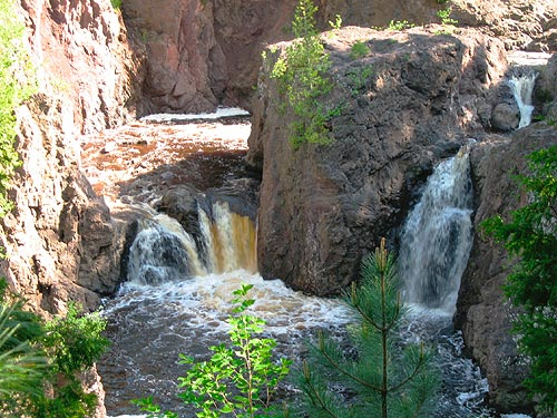 Copper Falls State Park Waterfalls Hiking Camp Ing