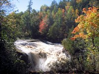 rainbow falls fall color black river harbor