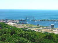 View of Duluth Harbor from the Enger Park Tower