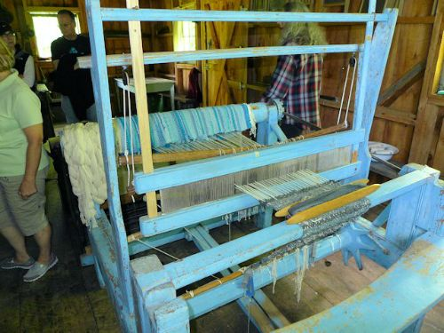 Working Loom used by Volunteer Weaver
