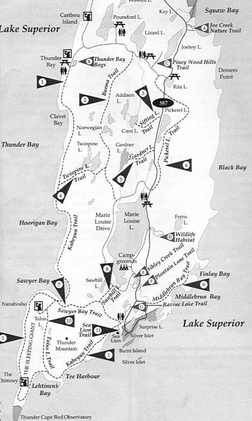 porcupine mtn map