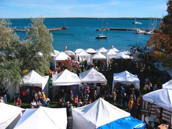 bayfield art show on Bayfield Lakefront