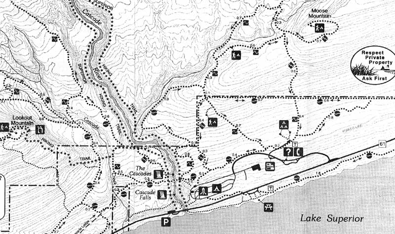 Cascades River State Park Hiking Trail Map on grand portage national monument minnesota, cascade river park marblemount wa, baptism river minnesota, cascade lake idaho fishing,