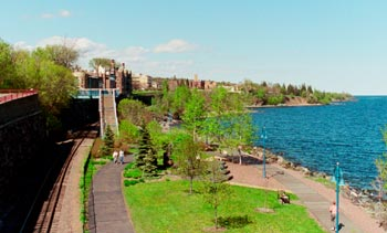 duluth lakewalk by Fitgers