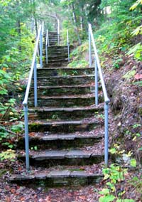 rose mountain stairs
