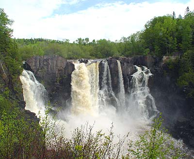 high falls of the Pigeon River, Grand Portage MN