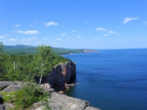 View of Shovel Point from atop of the Palisades Head Scenic Lookout
