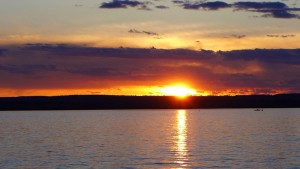 Sunset Lake Superior Chequamegon Bay