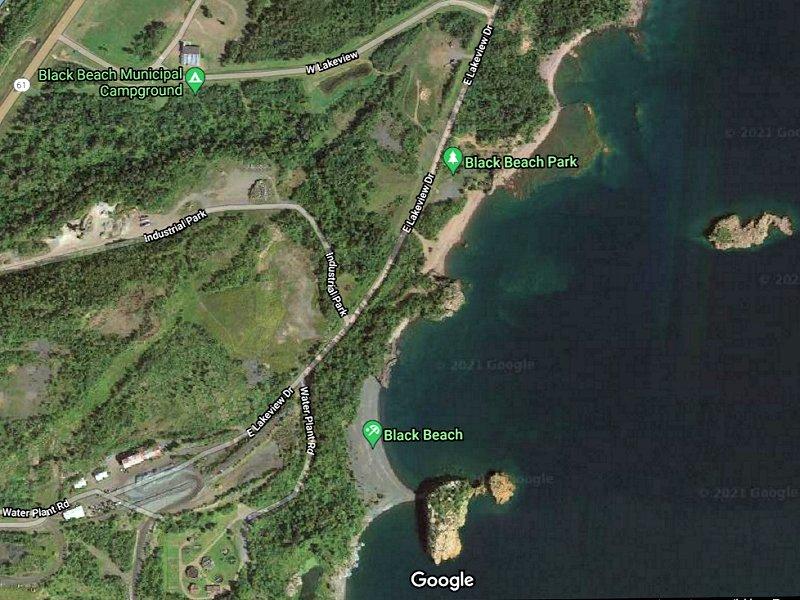 Satellite View Black Beach Park and Campground