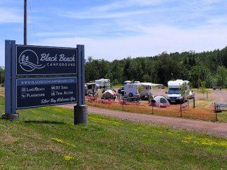 Black Beach Campground Silver Bay, MN