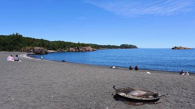 black beach Silver Bay, mn