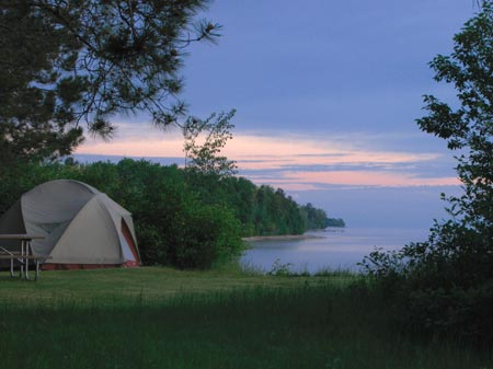 camping in michigan