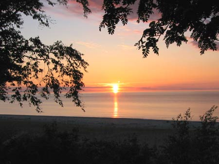 sunrise over Grand Marais Campground Beach
