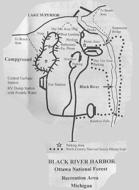Black River Michigan Waterfalls Camping