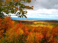 fall color porcupine mountains