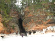 ice sea caves apostle islands national lakeshore