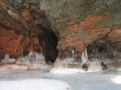 Bayfield sea and ice caves