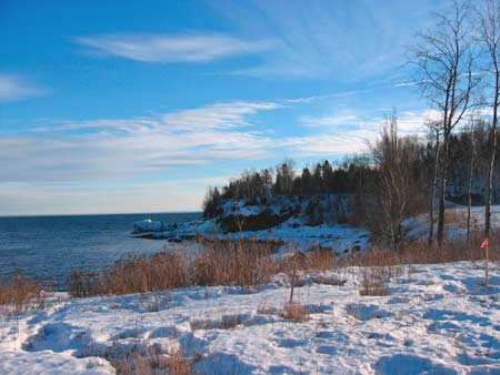 two harbors in winter
